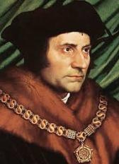 Thomas More, schrijver van Utopia en vriend van Erasmus. Op 'Utopia' zou langs slinkse weg later het wetenschappelijke socialisme annex het Marxisme annex het Communisme gebaseerd worden.